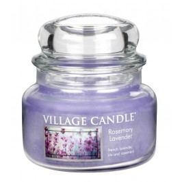 Svíčka ve skle Rosemary Lavender - malá, fialová barva, sklo