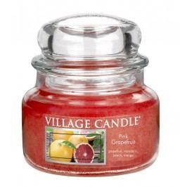 Svíčka ve skle Pink Grapefruit - malá, červená barva, oranžová barva, sklo