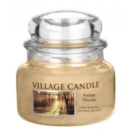 Svíčka ve skle Amber Woods - malá, béžová barva, sklo, vosk
