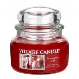 Svíčka ve skle Peppermint Stick - malá, červená barva, sklo, vosk