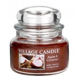 Svíčka ve skle Apple Cinnamon - malá, hnědá barva, sklo, vosk