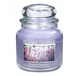 Svíčka ve skle Rosemary Lavender - střední, fialová barva, sklo