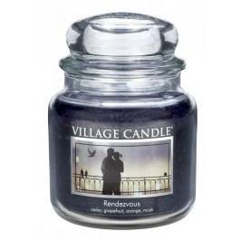 Svíčka ve skle Rendezvous - střední, černá barva, sklo