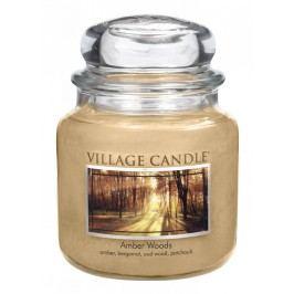 Svíčka ve skle Amber Woods - střední, béžová barva, sklo, vosk
