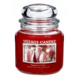 Svíčka ve skle Peppermint Stick - střední, červená barva, sklo, vosk