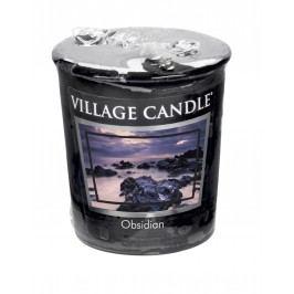 Votivní svíčka Village Candle - Obsidian, černá barva, vosk