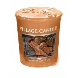 Votivní svíčka Village Candle - Autumn Comfort, oranžová barva, hnědá barva, vosk