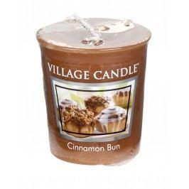 Votivní svíčka Village Candle - Cinnamon Bun, hnědá barva