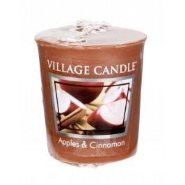 Votivní svíčka Village Candle - Apple Cinnamon, hnědá barva