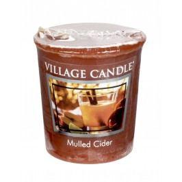 Votivní svíčka Village Candle - Mulled Cider, hnědá barva, vosk