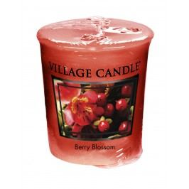 Votivní svíčka Village Candle - Berry Blossom, červená barva, vosk