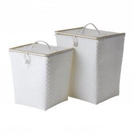 Plastový koš na prádlo White Menší, bílá barva, plast