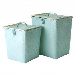 Plastový koš na prádlo Mint Menší, zelená barva, plast