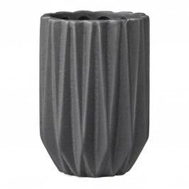Keramický kalíšek do koupelny Fluted dark grey, šedá barva, keramika