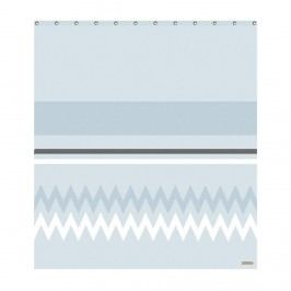 Koupelnový závěs Skyblue, modrá barva, béžová barva, šedá barva, textil
