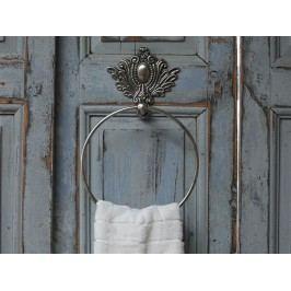 Držák na ručníky Chateau antique silver, stříbrná barva, kov