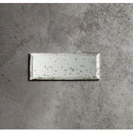 Obdélníkové zrcátko Mirror Antique, stříbrná barva, sklo