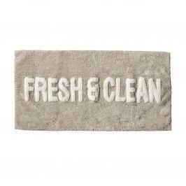 Předložka do koupelny 100x50, béžová barva, šedá barva, textil
