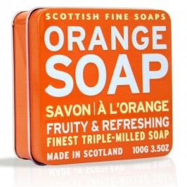 Dárkové mýdlo v plechovce - pomeranč, oranžová barva, kov