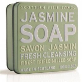 Dárkové mýdlo v plechovce - jasmín, zelená barva, kov