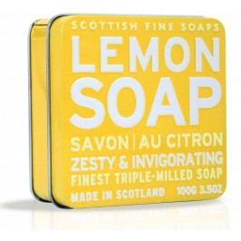 Dárkové mýdlo v plechovce - citron, žlutá barva