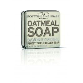 Dárkové mýdlo v plechovce - oves, béžová barva