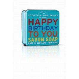 Mýdlo v plechové krabičce - Vše nejlepší, modrá barva