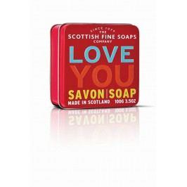 Mýdlo v plechové krabičce - Miluji Tě, červená barva