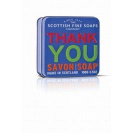 Mýdlo v plechové krabičce - Děkuji, modrá barva