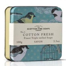 Mýdlo v plechové krabičce - BAVLNA, béžová barva