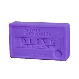 Francouzské mýdlo s vůní oliv a levandule 100gr, fialová barva