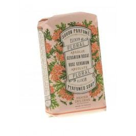 Parfemované mýdlo Rose Geranium 150 g, růžová barva, krémová barva, papír