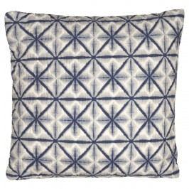 Prošívaný povlak na polštář Lia blue 50x50, modrá barva, textil