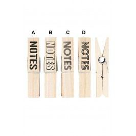 Dekorativní kolíček maxi Notes Typ A, béžová barva, dřevo