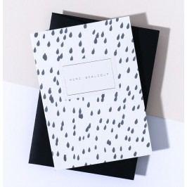 À L'AISE Papírové přání s obálkou Merci Beaucoup, černá barva, papír