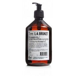 L:A BRUKET Mycí prostředek na nádobí s citronovou trávou a rozmarýnem 500 ml, hnědá barva, plast