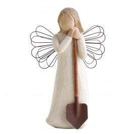 Anděl Vaší zahrady, bílá barva