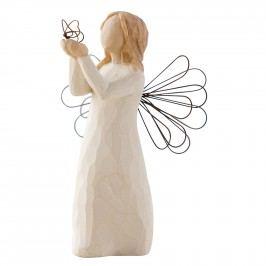 Anděl volnosti, bílá barva