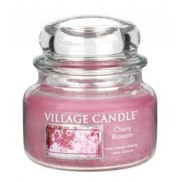 Svíčka ve skle Cherry blossom - malá, růžová barva, sklo