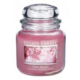 Svíčka ve skle Cherry blossom - střední, růžová barva, sklo
