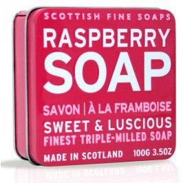 Dárkové mýdlo v plechovce - malina, růžová barva, kov