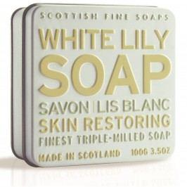 Dárkové mýdlo v plechovce - lilie, žlutá barva, bílá barva