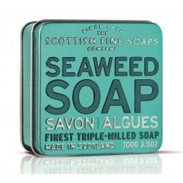 Dárkové mýdlo v plechovce - mořské řasy, modrá barva