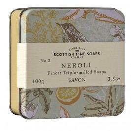 Mýdlo v plechové krabičce NEROLI, žlutá barva