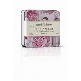 Mýdlo v plechové krabičce - RŮŽOVÁ AMBRA, růžová barva