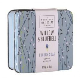 Mýdlo v plechové krabičce Willow & Bluebell 100 g, modrá barva, kov