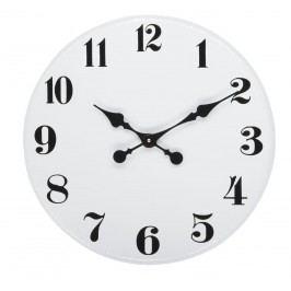 Nástěnné kovové hodiny 45,5 cm, černá barva, bílá barva, kov