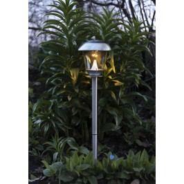 Zahradní světlo na solární napájení Steel 66 cm, stříbrná barva, sklo, kov