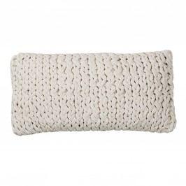 Polštář Cotton white 30x60, bílá barva, textil
