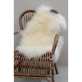 Tibetská ovčí kožešina Natural white, bílá barva, krémová barva, kožešina